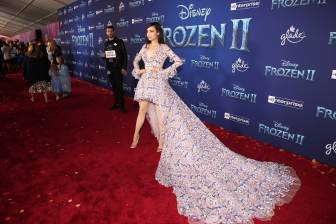 """HOLLYWOOD, CALIFORNIA - NOVEMBER 07: Sofia Carson attends the world premiere of Disney's """"Frozen 2"""" at Hollywood's Dolby Theatre on Thursday, November 7, 2019 in Hollywood, California. (Photo by Jesse Grant/Getty Images for Disney)"""