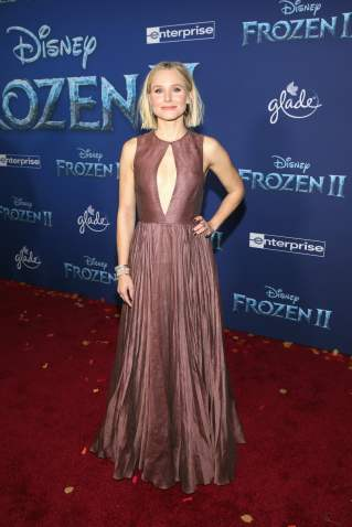 """HOLLYWOOD, CALIFORNIA - NOVEMBER 07: Actor Kristen Bell attends the world premiere of Disney's """"Frozen 2"""" at Hollywood's Dolby Theatre on Thursday, November 7, 2019 in Hollywood, California. (Photo by Jesse Grant/Getty Images for Disney)"""