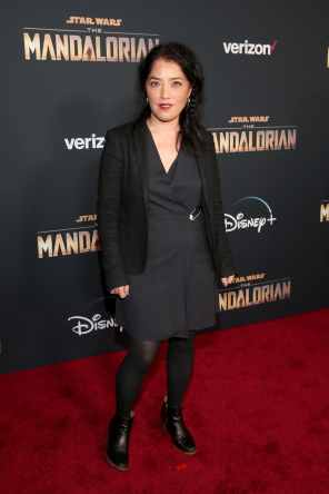 "HOLLYWOOD, CALIFORNIA - NOVEMBER 13: Director Deborah Chow arrives at the premiere of Lucasfilm's first-ever, live-action series, ""The Mandalorian,"" at the El Capitan Theatre in Hollywood, Calif. on November 13, 2019. ""The Mandalorian"" streams exclusively on Disney+. (Photo by Jesse Grant/Getty Images for Disney)"