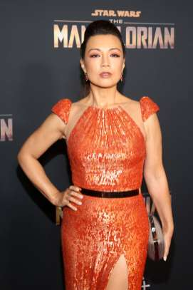 "HOLLYWOOD, CALIFORNIA - NOVEMBER 13: Ming-Na Wen arrives at the premiere of Lucasfilm's first-ever, live-action series, ""The Mandalorian,"" at the El Capitan Theatre in Hollywood, Calif. on November 13, 2019. ""The Mandalorian"" streams exclusively on Disney+. (Photo by Jesse Grant/Getty Images for Disney)"