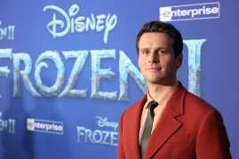 """HOLLYWOOD, CALIFORNIA - NOVEMBER 07: Actor Jonathan Groff attends the world premiere of Disney's """"Frozen 2"""" at Hollywood's Dolby Theatre on Thursday, November 7, 2019 in Hollywood, California. (Photo by Jesse Grant/Getty Images for Disney)"""