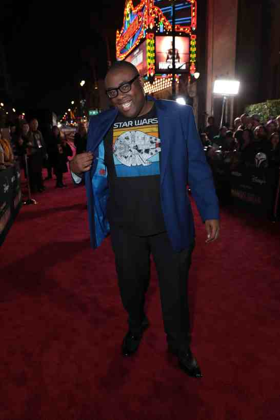 "Andre Meadows arrives at the premiere of Lucasfilm's first-ever, live-action series, ""The Mandalorian"", at the El Capitan Theatre in Hollywood, CA on November 13, 2019. ""The Mandalorian"" streams exclusively on Disney+.(photo: Alex J. Berliner/ABImages)"
