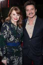 "Director Bryce Dallas Howard and Pedro Pascal arrive at the premiere of Lucasfilm's first-ever, live-action series, ""The Mandalorian"", at the El Capitan Theatre in Hollywood, CA on November 13, 2019. ""The Mandalorian"" streams exclusively on Disney+.(photo: Alex J. Berliner/ABImages)"