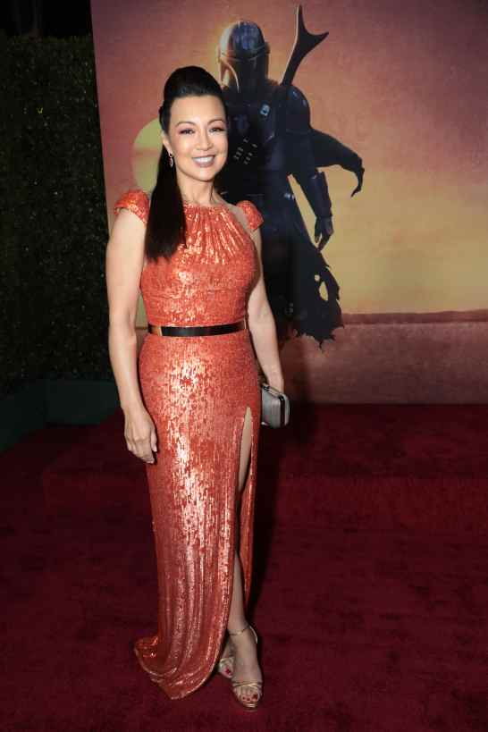 "Ming-Na Wen arrives at the premiere of Lucasfilm's first-ever, live-action series, ""The Mandalorian"", at the El Capitan Theatre in Hollywood, CA on November 13, 2019. ""The Mandalorian"" streams exclusively on Disney+.(photo: Alex J. Berliner/ABImages)"