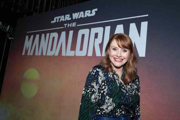 "Director Bryce Dallas Howard poses backstage at the premiere of Lucasfilm's first-ever, live-action series, ""The Mandalorian"", at the El Capitan Theatre in Hollywood, CA on November 13, 2019. ""The Mandalorian"" streams exclusively on Disney+.(photo: Alex J. Berliner/ABImages)"
