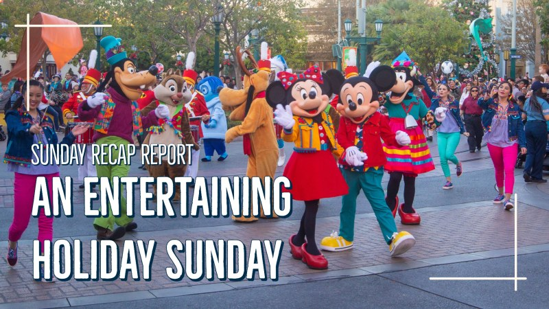 Sunday Recap Report - An Entertaining Holiday Sunday