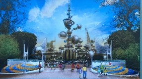 Tomorrowland Entrance Concept Art at Disneyland