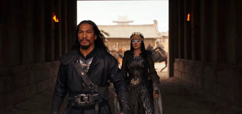 Disney's MULAN..L to R: Bori Khan (Jason Scott Lee) and Xianniang (Gong Li)..Photo: Film Frame..© 2019 Disney Enterprises, Inc. All Rights Reserved.