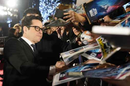 TOKYO, JAPAN - DECEMBER 11: Director J.J. Abrams signs autographs for fans at the special fan event for 'Star Wars: The Rise of Skywalker' at Roppongi Hills on December 11, 2019 in Tokyo, Japan. (Photo by Christopher Jue/Getty Images for Disney)