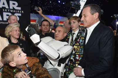"HOLLYWOOD, CALIFORNIA - DECEMBER 16: The Walt Disney Company Chairman and CEO Bob Iger arrives for the World Premiere of ""Star Wars: The Rise of Skywalker"", the highly anticipated conclusion of the Skywalker saga on December 16, 2019 in Hollywood, California. (Photo by Alberto E. Rodriguez/Getty Images for Disney)"