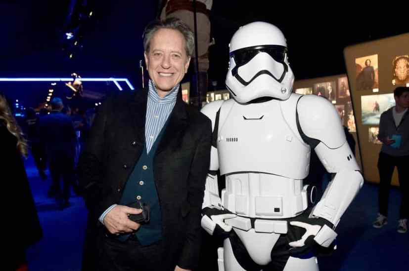 "HOLLYWOOD, CALIFORNIA - DECEMBER 16: Richard E. Grant attends the World Premiere of ""Star Wars: The Rise of Skywalker"", the highly anticipated conclusion of the Skywalker saga on December 16, 2019 in Hollywood, California. (Photo by Alberto E. Rodriguez/Getty Images for Disney)"