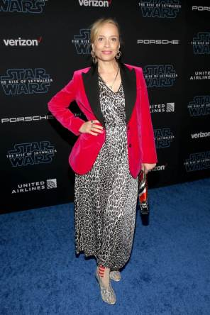 "HOLLYWOOD, CALIFORNIA - DECEMBER 16: Victoria Mahoney arrives for the World Premiere of ""Star Wars: The Rise of Skywalker"", the highly anticipated conclusion of the Skywalker saga on December 16, 2019 in Hollywood, California. (Photo by Jesse Grant/Getty Images for Disney)"