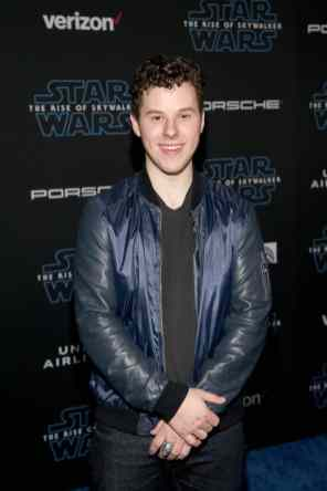 "HOLLYWOOD, CALIFORNIA - DECEMBER 16: Nolan Gould arrives for the World Premiere of ""Star Wars: The Rise of Skywalker"", the highly anticipated conclusion of the Skywalker saga on December 16, 2019 in Hollywood, California. (Photo by Jesse Grant/Getty Images for Disney)"
