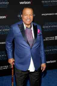 "HOLLYWOOD, CALIFORNIA - DECEMBER 16: Billy Dee Williams arrives for the World Premiere of ""Star Wars: The Rise of Skywalker"", the highly anticipated conclusion of the Skywalker saga on December 16, 2019 in Hollywood, California. (Photo by Jesse Grant/Getty Images for Disney)"