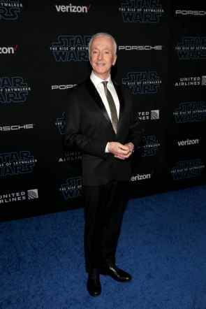 "HOLLYWOOD, CALIFORNIA - DECEMBER 16: Anthony Daniels arrives for the World Premiere of ""Star Wars: The Rise of Skywalker"", the highly anticipated conclusion of the Skywalker saga on December 16, 2019 in Hollywood, California. (Photo by Jesse Grant/Getty Images for Disney)"