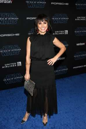"HOLLYWOOD, CALIFORNIA - DECEMBER 16: Constance Zimmer arrives for the World Premiere of ""Star Wars: The Rise of Skywalker"", the highly anticipated conclusion of the Skywalker saga on December 16, 2019 in Hollywood, California. (Photo by Jesse Grant/Getty Images for Disney)"