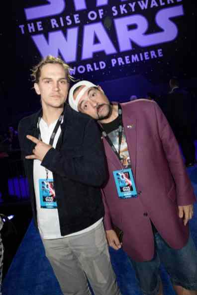 Jason Mewes and Kevin Smith arrive for the World Premiere of Star Wars: The Rise of Skywalker, the highly anticipated conclusion of the Skywalker saga, in Hollywood, CA, on December 16, 2019..(photo: Alex J. Berliner/ABImages)
