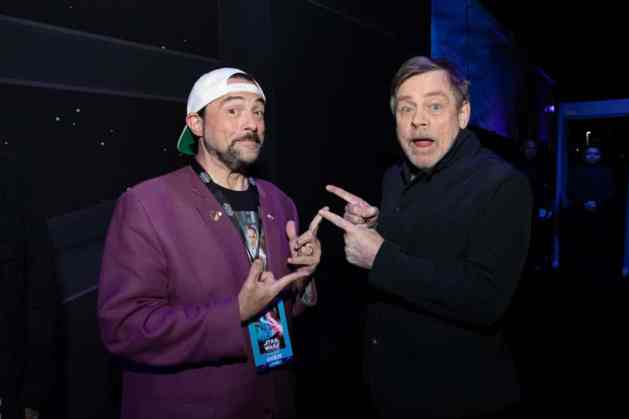 Kevin Smith and Mark Hamill arrive for the World Premiere of Star Wars: The Rise of Skywalker, the highly anticipated conclusion of the Skywalker saga, in Hollywood, CA, on December 16, 2019..(photo: Alex J. Berliner/ABImages)