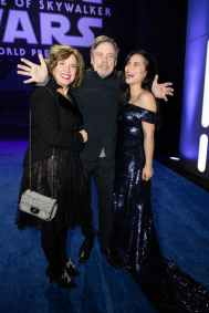 Marilou York, Mark Hamill and Kelly Marie Tran arrive for the World Premiere of Star Wars: The Rise of Skywalker, the highly anticipated conclusion of the Skywalker saga, in Hollywood, CA, on December 16, 2019..(photo: Alex J. Berliner/ABImages)