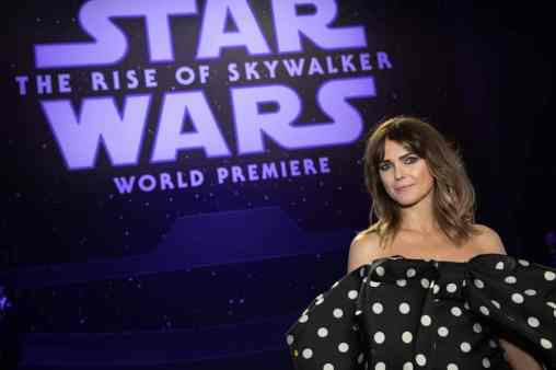 Keri Russell arrives for the World Premiere of Star Wars: The Rise of Skywalker, the highly anticipated conclusion of the Skywalker saga, in Hollywood, CA, on December 16, 2019..(photo: Alex J. Berliner/ABImages)