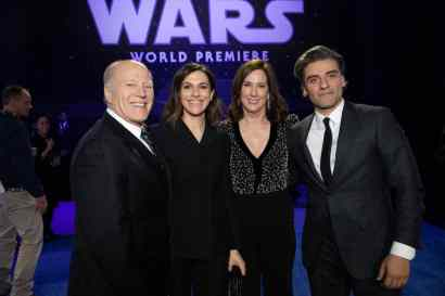 Frank Marshall, Michelle Rejwan, Kathleen Kennedy and Oscar Isaac arrive for the World Premiere of Star Wars: The Rise of Skywalker, the highly anticipated conclusion of the Skywalker saga, in Hollywood, CA, on December 16, 2019..(photo: Alex J. Berliner/ABImages)