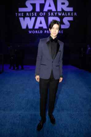 Yuto Nakajima arrives for the World Premiere of Star Wars: The Rise of Skywalker, the highly anticipated conclusion of the Skywalker saga, in Hollywood, CA, on December 16, 2019..(photo: Alex J. Berliner/ABImages)