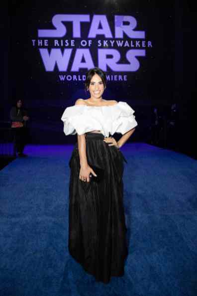 Tiffany Smith arrives for the World Premiere of Star Wars: The Rise of Skywalker, the highly anticipated conclusion of the Skywalker saga, in Hollywood, CA, on December 16, 2019..(photo: Alex J. Berliner/ABImages)
