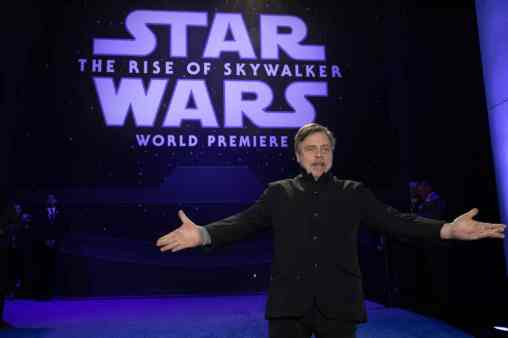 Mark Hamill arrives for the World Premiere of Star Wars: The Rise of Skywalker, the highly anticipated conclusion of the Skywalker saga, in Hollywood, CA, on December 16, 2019..(photo: Alex J. Berliner/ABImages)