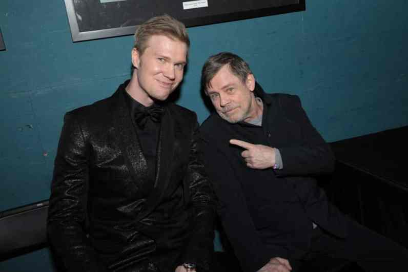 Joonas Suotamo and Mark Hamill arrive for the World Premiere of Star Wars: The Rise of Skywalker, the highly anticipated conclusion of the Skywalker saga, in Hollywood, CA, on December 16, 2019. (photo: Alex J. Berliner/ABImages)