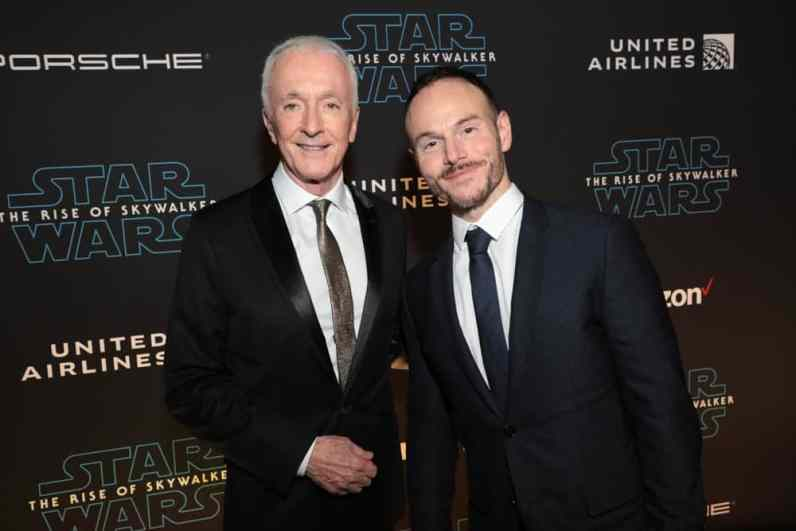 Anthony Daniels and Wrtier Chris Terrio arrive for the World Premiere of Star Wars: The Rise of Skywalker, the highly anticipated conclusion of the Skywalker saga, in Hollywood, CA, on December 16, 2019. (photo: Alex J. Berliner/ABImages)