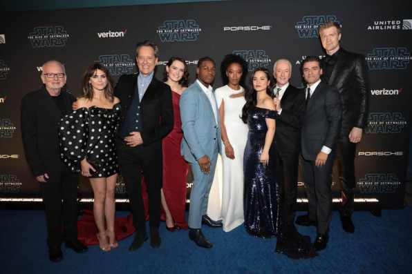 Ian McDiarmid, Keri Russell, Richard E. Grant, Daisy Ridley, John Boyega, Naomi Ackie, Kelly Marie Tran, Anthony Daniels, Oscar Isaac and Joonas Suotamo arrive for the World Premiere of Star Wars: The Rise of Skywalker, the highly anticipated conclusion of the Skywalker saga, in Hollywood, CA, on December 16, 2019. (photo: Alex J. Berliner/ABImages)