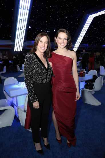 Kathleen Kennedy and Daisy Ridley attend the World Premiere of Star Wars: The Rise of Skywalker, the highly anticipated conclusion of the Skywalker saga after party, in Hollywood, CA, on December 16, 2019. (photo: Alex J. Berliner/ABImages)