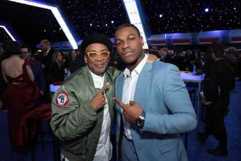 Spike Lee and John Boyega attend the World Premiere of Star Wars: The Rise of Skywalker, the highly anticipated conclusion of the Skywalker saga after party, in Hollywood, CA, on December 16, 2019. (photo: Alex J. Berliner/ABImages)