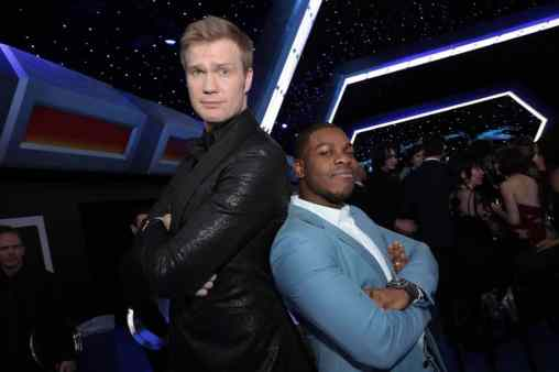 Joonas Suotamo and John Boyega attend the World Premiere of Star Wars: The Rise of Skywalker, the highly anticipated conclusion of the Skywalker saga after party, in Hollywood, CA, on December 16, 2019. (photo: Alex J. Berliner/ABImages)