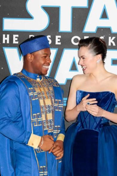 John Boyega and Daisy Ridley