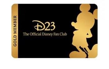 D23 Gold Membership Card