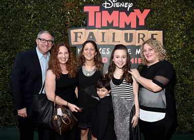 """HOLLYWOOD, CALIFORNIA - JANUARY 30: Ruby Matenko (2nd R) and guests attend the premiere of Disney's """"Timmy Failure: Mistakes Were Made"""" at Hollywood's El Capitan Theater on January 30, 2020. """"Timmy Failure: Mistakes Were Made"""" premieres on February 7, 2020, streaming only on Disney+. (Photo by Alberto E. Rodriguez/Getty Images for Disney)"""