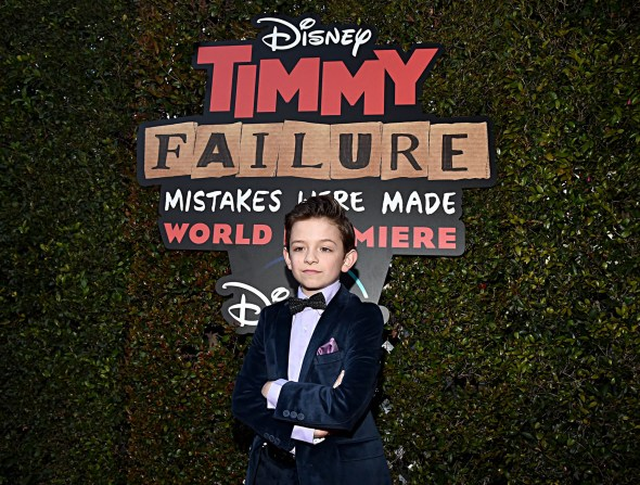 """HOLLYWOOD, CALIFORNIA - JANUARY 30: Actor Winslow Fegley attends the premiere of Disney's """"Timmy Failure: Mistakes Were Made"""" at Hollywood's El Capitan Theater on January 30, 2020. """"Timmy Failure: Mistakes Were Made"""" premieres on February 7, 2020, streaming only on Disney+. (Photo by Alberto E. Rodriguez/Getty Images for Disney)"""
