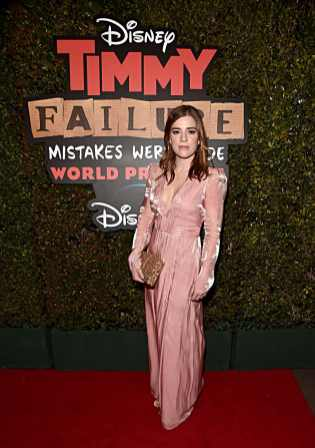 """HOLLYWOOD, CALIFORNIA - JANUARY 30: Allie Dunbar attends the premiere of Disney's """"Timmy Failure: Mistakes Were Made"""" at Hollywood's El Capitan Theater on January 30, 2020. """"Timmy Failure: Mistakes Were Made"""" premieres on February 7, 2020, streaming only on Disney+. (Photo by Alberto E. Rodriguez/Getty Images for Disney)"""