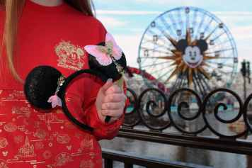 This Lunar New Year Minnie Mouse Ears headband can be found at Disney California Adventure Park as Disneyland Resort celebrates the Year of the Mouse this Lunar New Year, Jan. 17 through Feb. 9, 2020. During the 24 days of this multicultural celebration, guests will enjoy exciting live entertainment and musical performances, plus inspired food and beverage items across festival marketplaces. (Disneyland Resort)