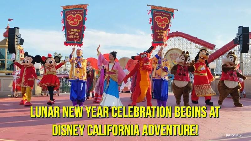 Lunar New Year Celebration Begins at Disney California Adventure!