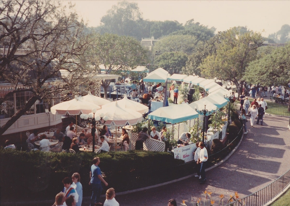 Broadcast booths lined up at Plaza Inn