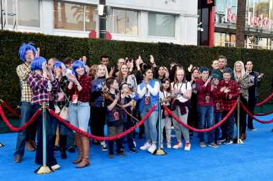 HOLLYWOOD, CALIFORNIA - FEBRUARY 18: Fans are seen at the world premiere of Disney and Pixar's ONWARD at the El Capitan Theatre on February 18, 2020 in Hollywood, California. (Photo by Alberto E. Rodriguez/Getty Images for Disney)