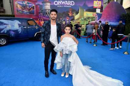 HOLLYWOOD, CALIFORNIA - FEBRUARY 18: (L-R) Nephi Garcia and Lili Garcia attend the world premiere of Disney and Pixar's ONWARD at the El Capitan Theatre on February 18, 2020 in Hollywood, California. (Photo by Alberto E. Rodriguez/Getty Images for Disney)