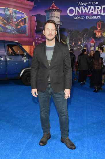 HOLLYWOOD, CALIFORNIA - FEBRUARY 18: Chris Pratt attends the world premiere of Disney and Pixar's ONWARD at the El Capitan Theatre on February 18, 2020 in Hollywood, California. (Photo by Alberto E. Rodriguez/Getty Images for Disney)