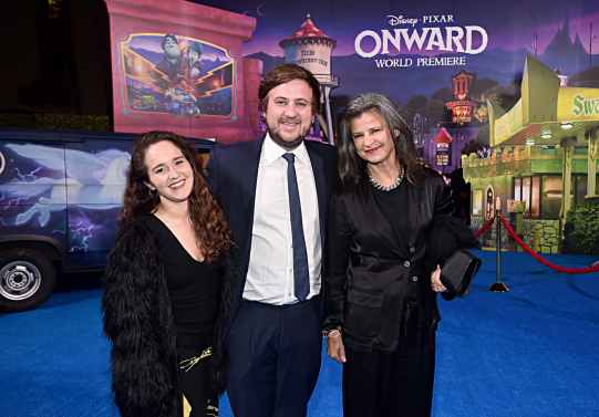 HOLLYWOOD, CALIFORNIA - FEBRUARY 18: Tracey Ullman (far R) and guests attend the world premiere of Disney and Pixar's ONWARD at the El Capitan Theatre on February 18, 2020 in Hollywood, California. (Photo by Alberto E. Rodriguez/Getty Images for Disney)
