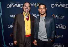 HOLLYWOOD, CALIFORNIA - FEBRUARY 18: (L-R) Mel Rodriguez and Wilmer Valderrama attend the world premiere of Disney and Pixar's ONWARD at the El Capitan Theatre on February 18, 2020 in Hollywood, California. (Photo by Alberto E. Rodriguez/Getty Images for Disney)