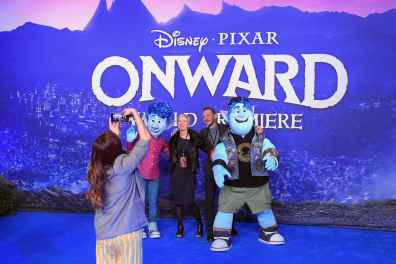 HOLLYWOOD, CALIFORNIA - FEBRUARY 18: Guests attend the world premiere of Disney and Pixar's ONWARD at the El Capitan Theatre on February 18, 2020 in Hollywood, California. (Photo by Charley Gallay/Getty Images for Disney)