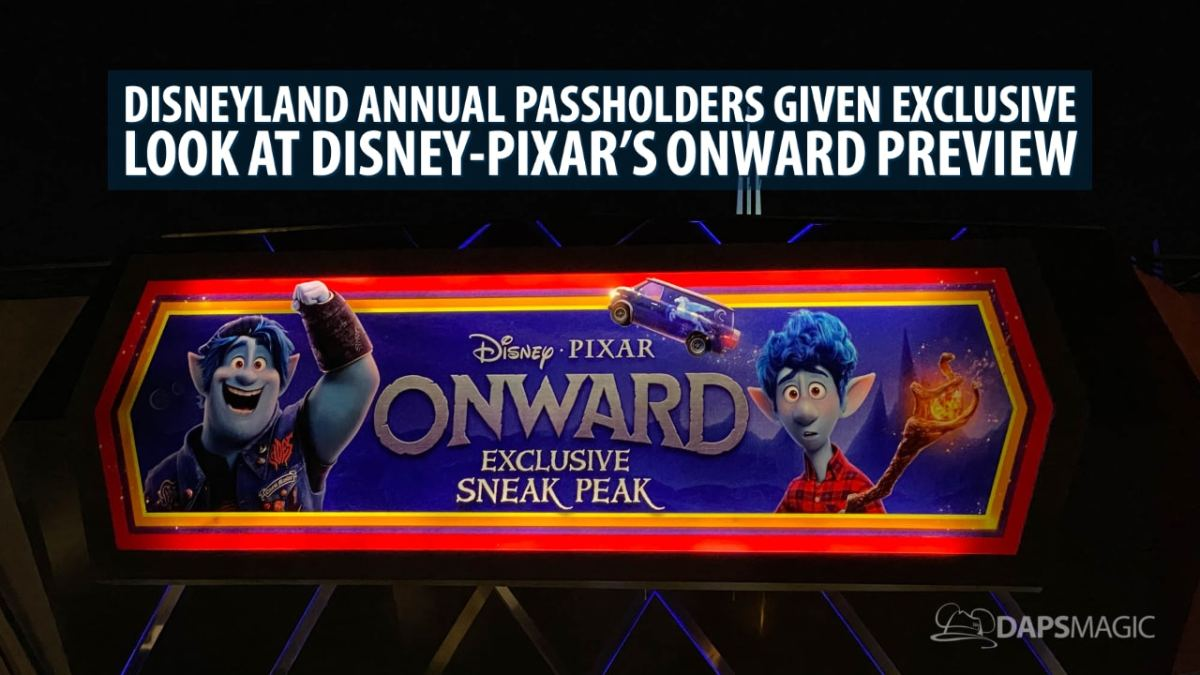 Disneyland Annual Passholders Given Exclusive Look at Disney-Pixar's Onward Preview