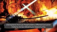 Disneyland Annual Passholders Offered Exclusive Indiana Jones Adventure Opportunity